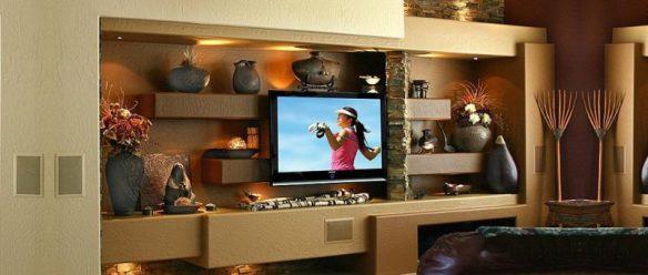 alçıpan tv ünitesi modeli 1
