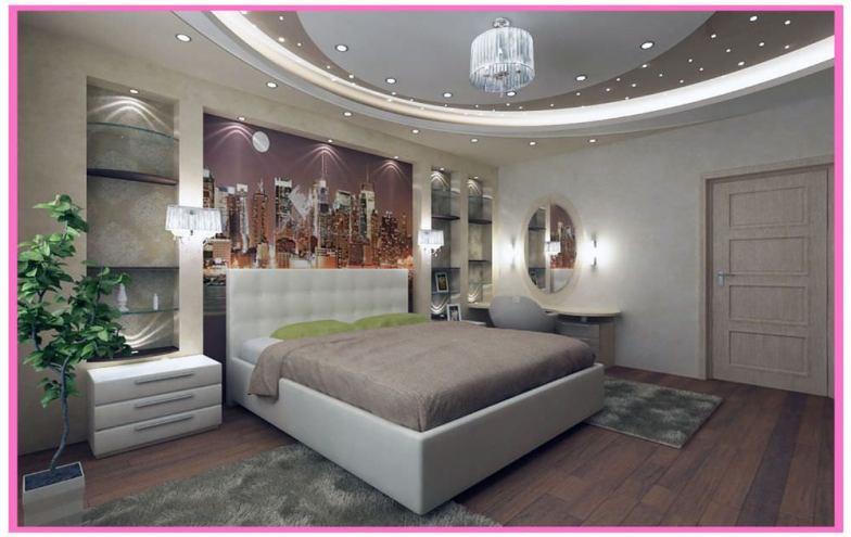 yatak odası asma tavan modeli1