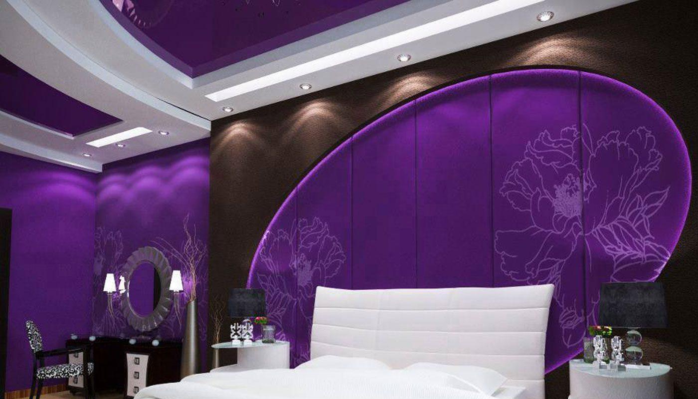 yatak odası için asma tavan 10