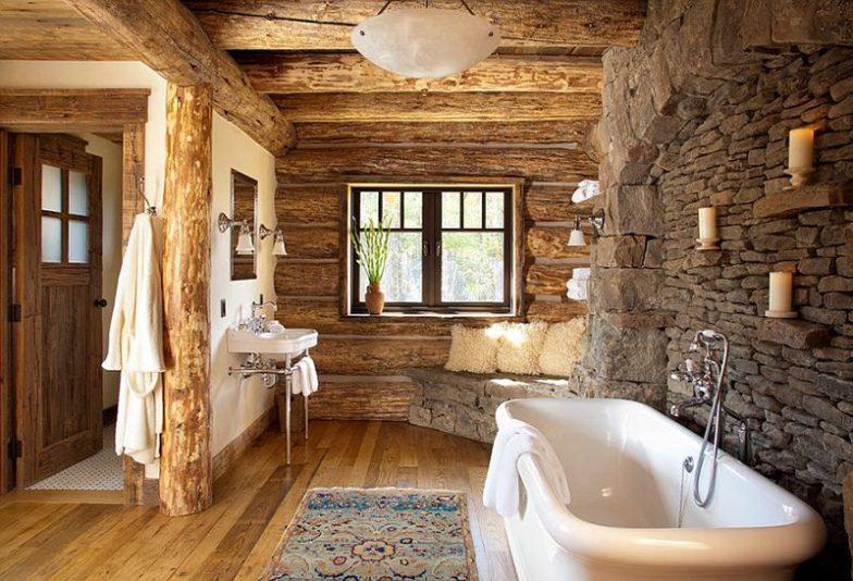 rustik banyo modeli