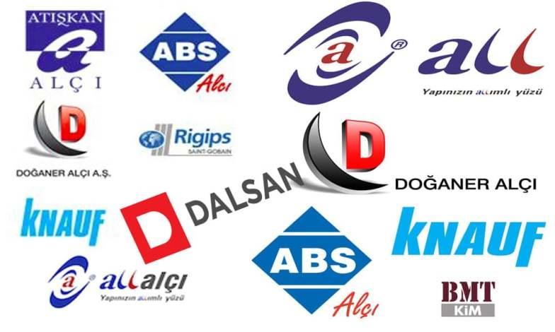 Alçı Markaları ve logoları
