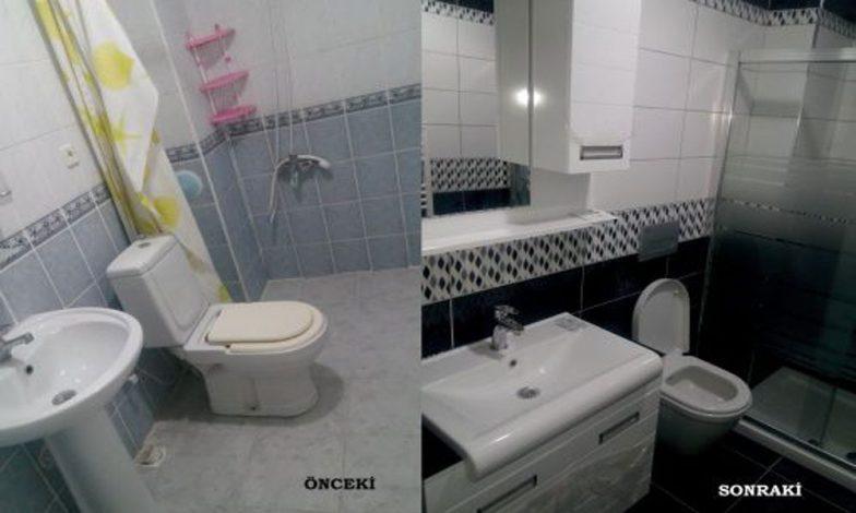 banyo yenileme öncesi sonrası