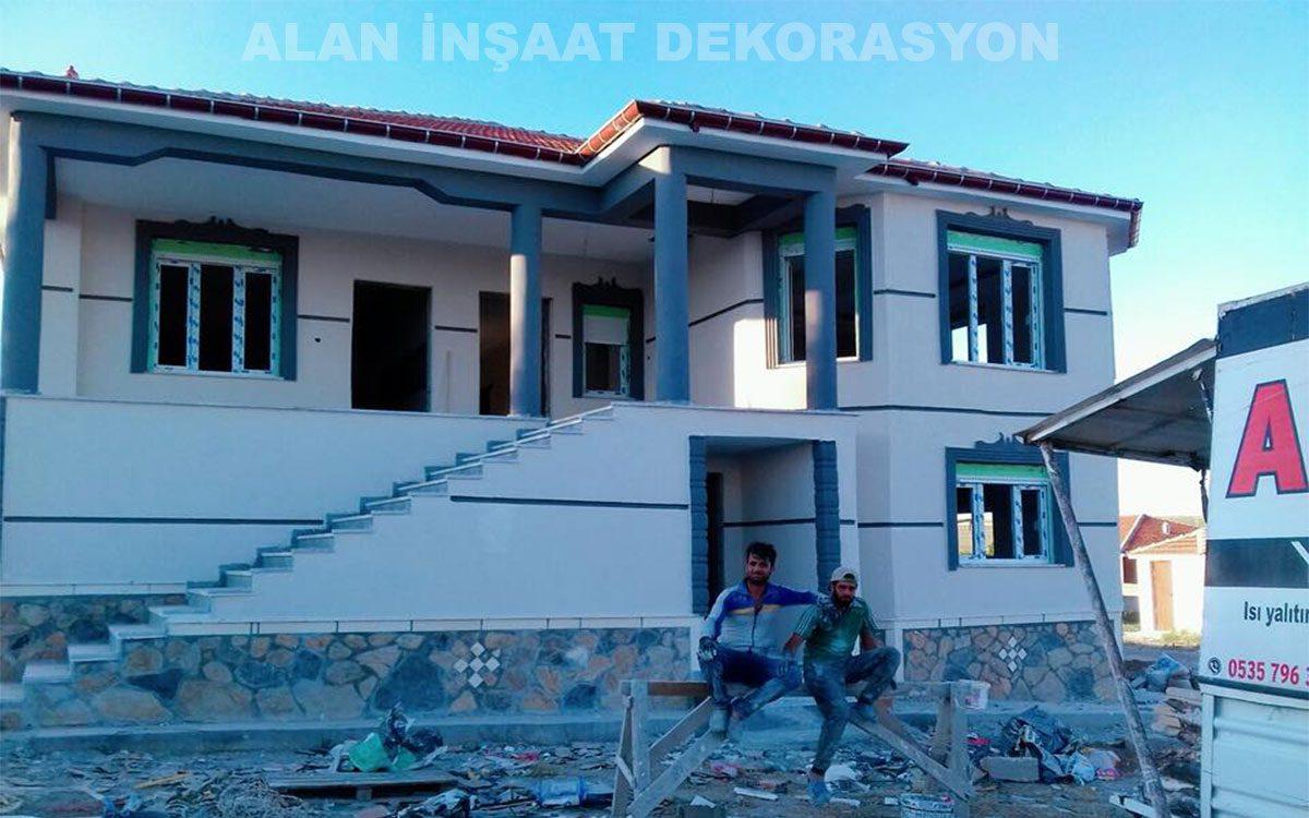 09.07.2018 tarihinde teslim ettiğimiz betonarme anahtar teslim katlı 320 m2 müstakil ev çalışmamız.