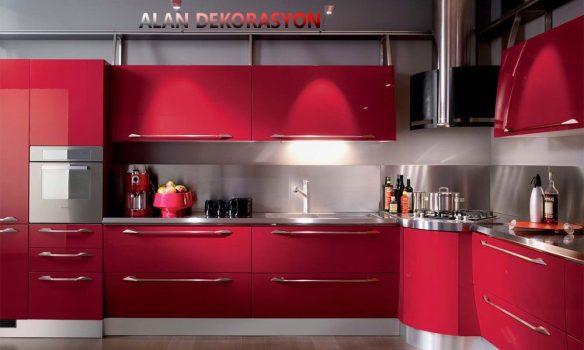 kırmızı ev dekorasyonları