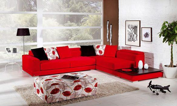 kırmızı rengi ev dekorasyonları