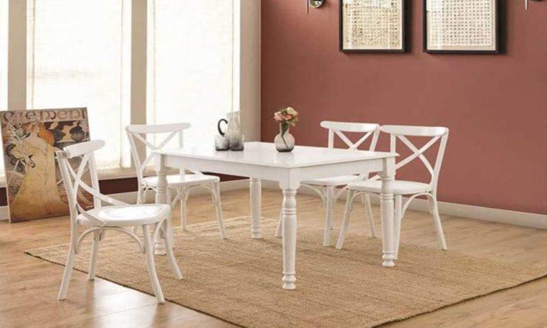beyaz country mutfak masası