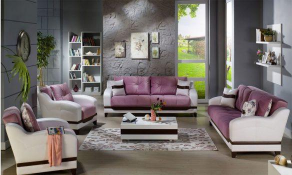 modern ve şık oturma odası