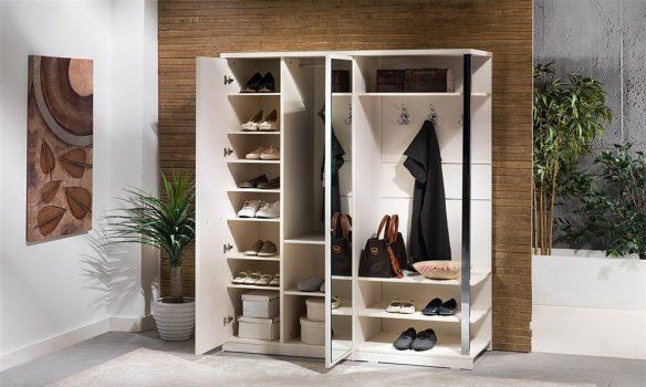 modern vestiyer ve ayakkabılık modeli