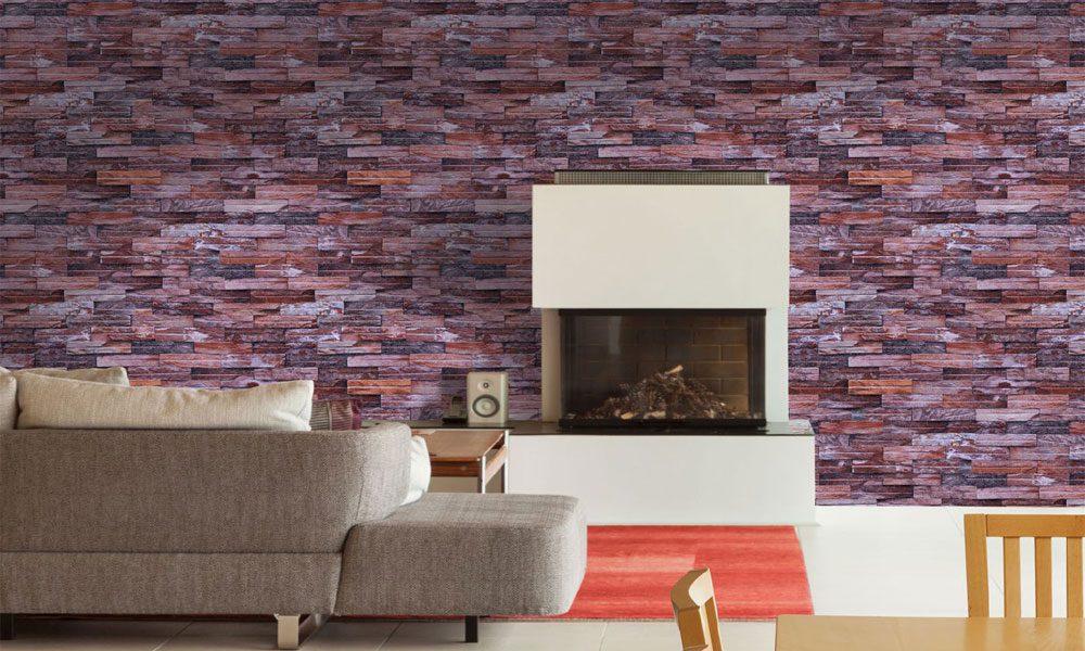 taş desenli duvar kağıdı modeli4