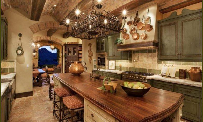 dağ evi mutfak dekorasyonu