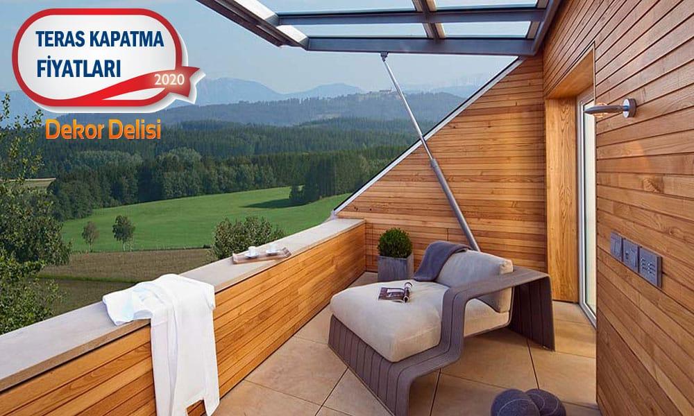 Teras kat çatı kapatma fiyat malzeme işçilik