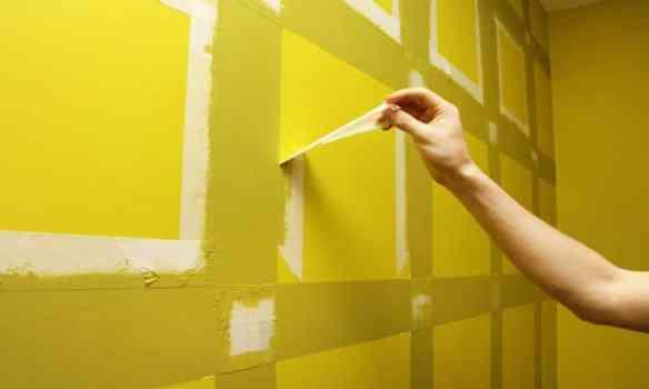 bant tekniği ile duvar boyama