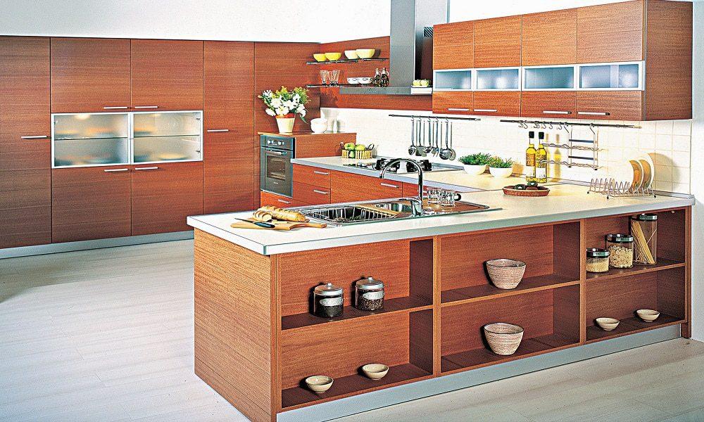 modern ahşap mutfak modeli19
