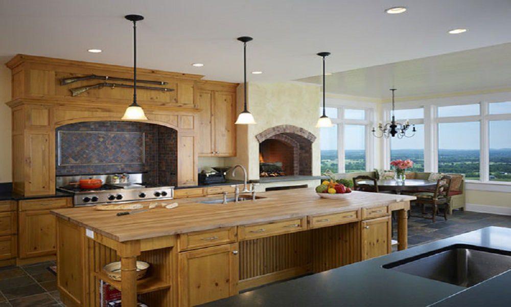 modern ahşap mutfak modeli7