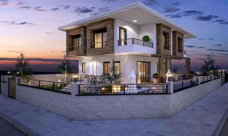 İki katlı ev ve villa modelleri 1