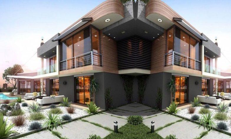 İki katlı ev ve villa modelleri 6