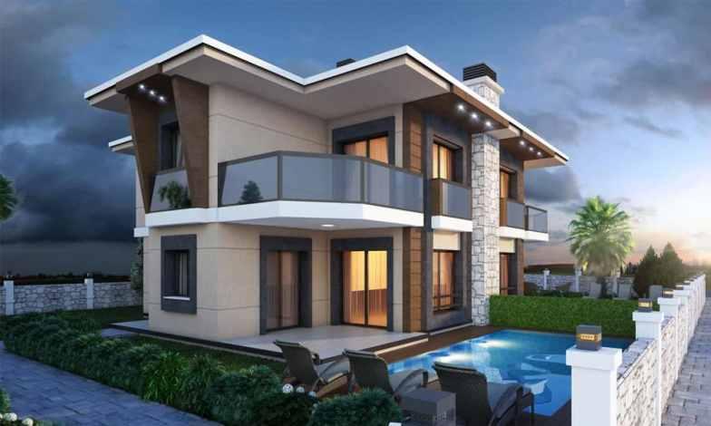 İki katlı ev ve villa modelleri 8