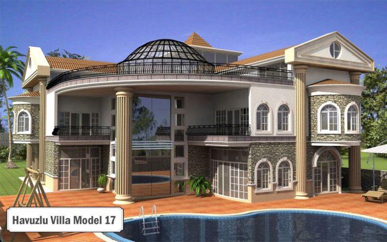 Havuzlu villa projeleri ve modelleri 17