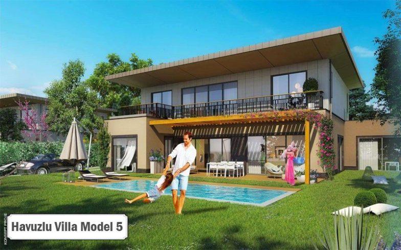 Havuzlu villa projeleri ve modelleri 5
