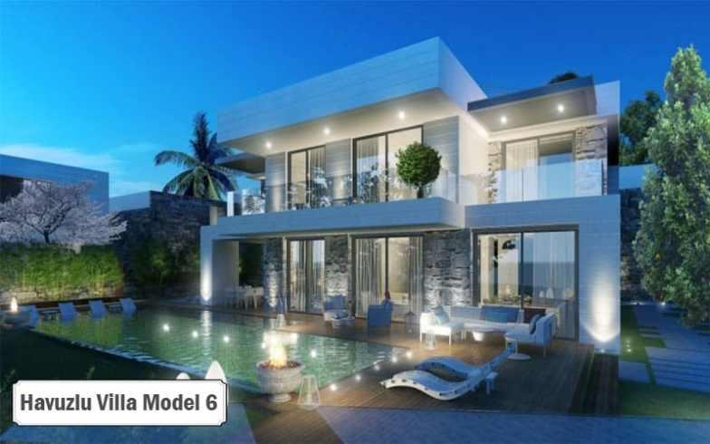 Havuzlu villa projeleri ve modelleri 6