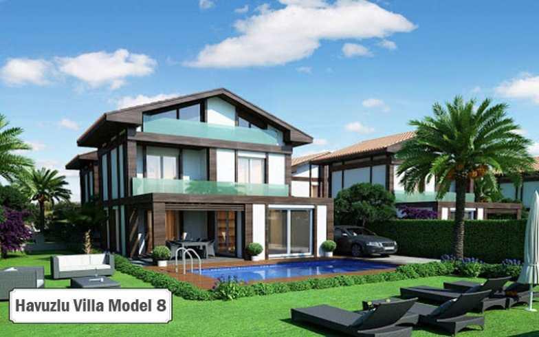 Havuzlu villa projeleri ve modelleri 8