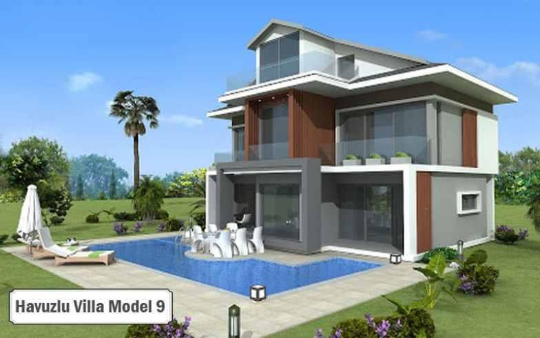 Havuzlu villa projeleri ve modelleri 9