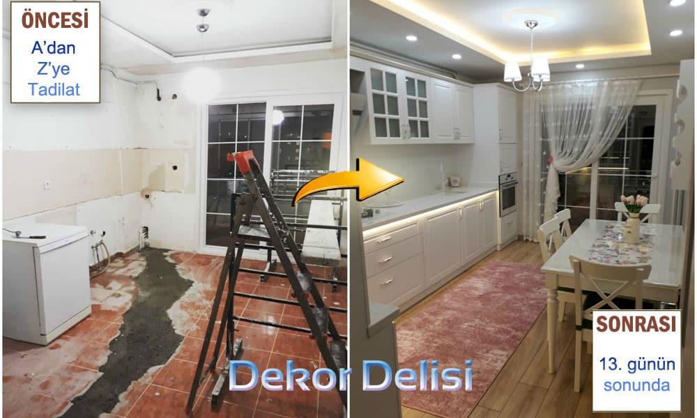 Mutfak tadilat ve dekorasyon u3ygulamaları