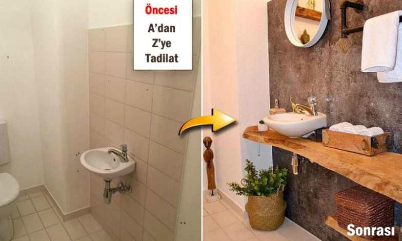 Farklı bir banyo tasarımı