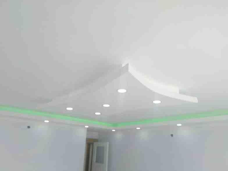 Renkli alçıpan tavan aydınlatmaları4