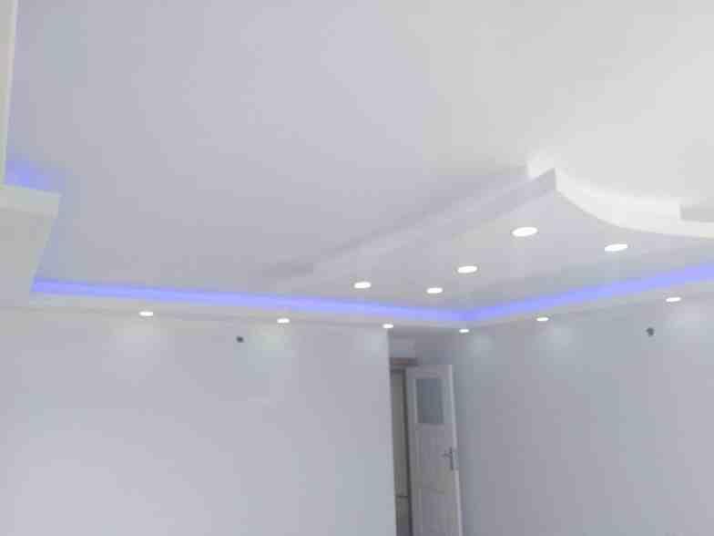 Renkli alçıpan tavan aydınlatmaları7