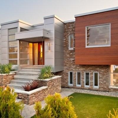 Красивая отделка фасада дома – 40 фото частных домов