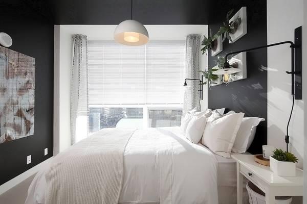 conception de chambre moderne rideaux