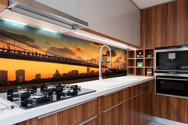 Mutfak önlüğü olarak 3D duvar kağıdı