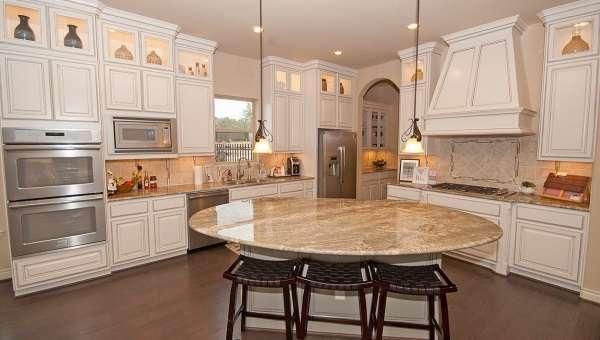 дизайн кухни столовой в частном доме фото 7