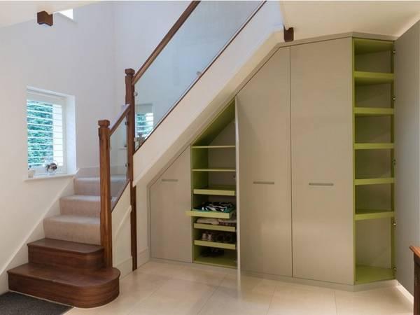 merdivenlerin altında dolap tasarımı, fotoğraf 22