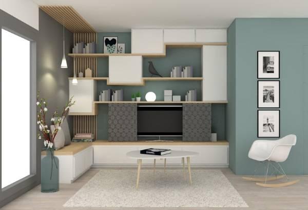 oturma odasında modern duvar dolapları, fotoğraf 38