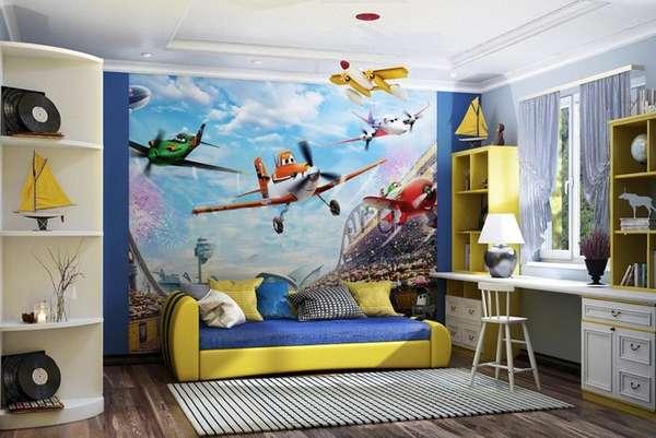 bir erkek çocuk için küçük bir çocuk odasının içi, fotoğraf 23