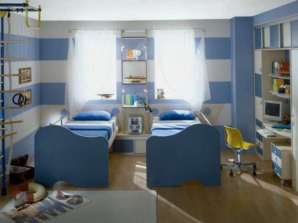 genç erkekler için bir çocuk odasının içi, fotoğraf 29