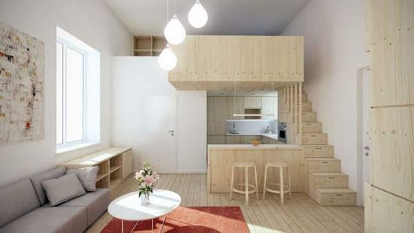 küçük stüdyo daire iç tasarım, fotoğraf 27