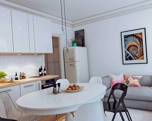 tek odalı küçük bir dairenin tasarımı, fotoğraf 36