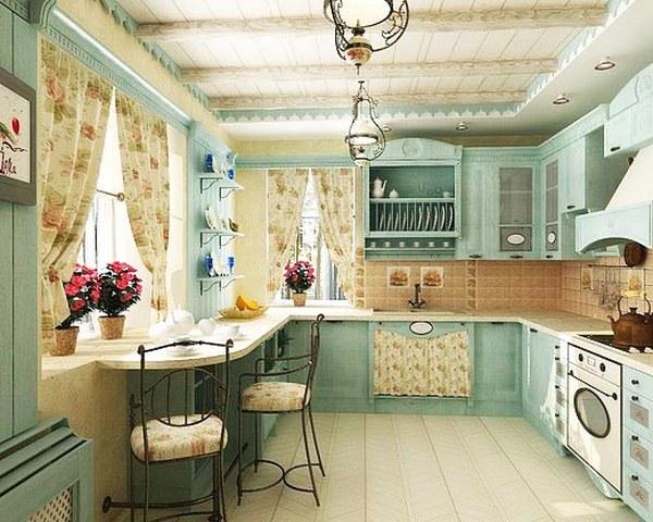 Provence tarzında küçük bir mutfak tasarımı 4
