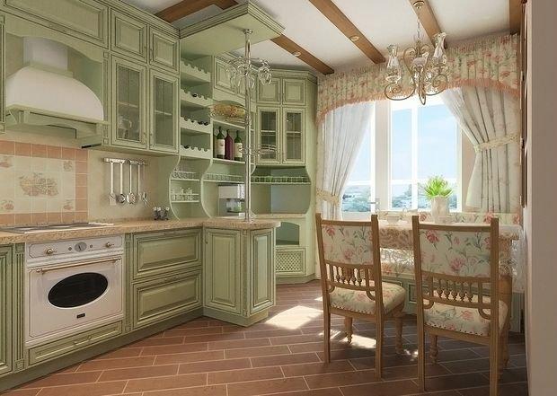 Provence tarzı mutfak cephesi