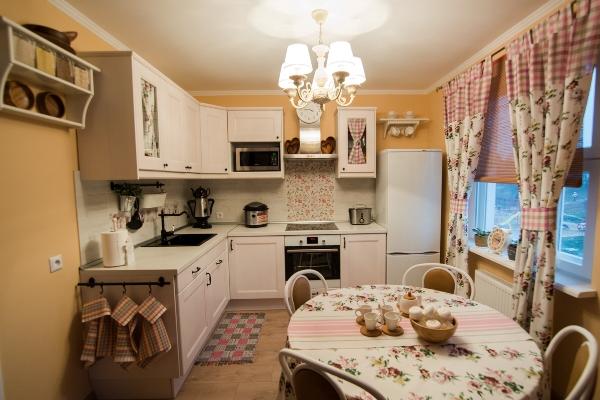 provence tarzı fotoğraf iç küçük mutfak