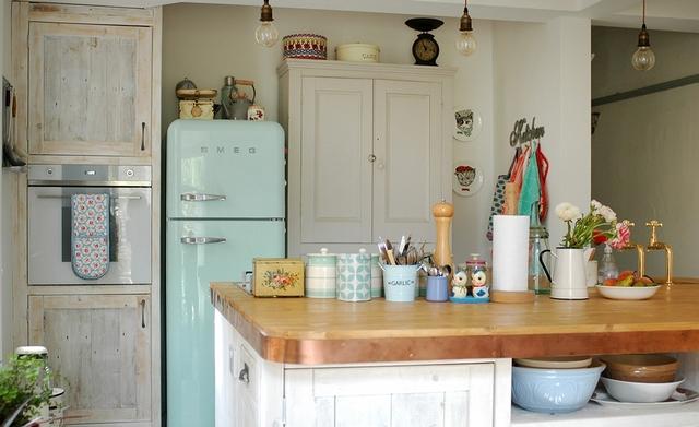 provence tarzında vintage buzdolabı