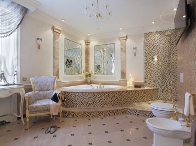 ev fotoğrafında şık banyo
