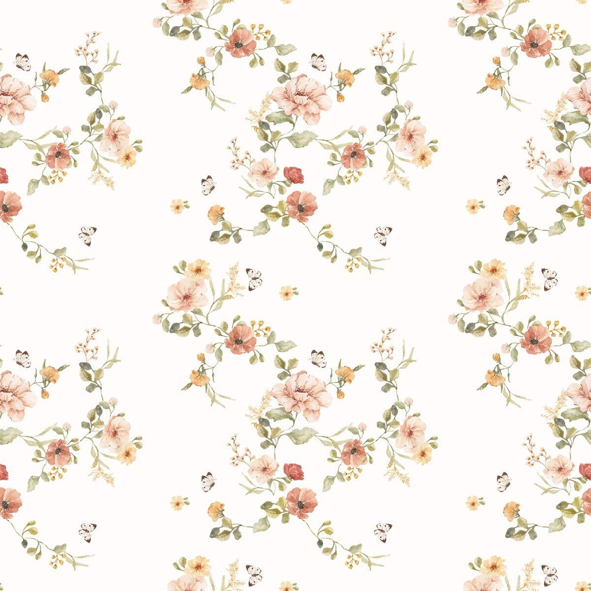 Floral Vintage Wallpaper Dekornik Com Wallstickers And Wallpapers Store