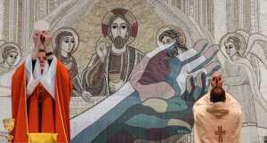 Kerk voorziet mondmaskers van hostiepapier tijdens kerstvieringen