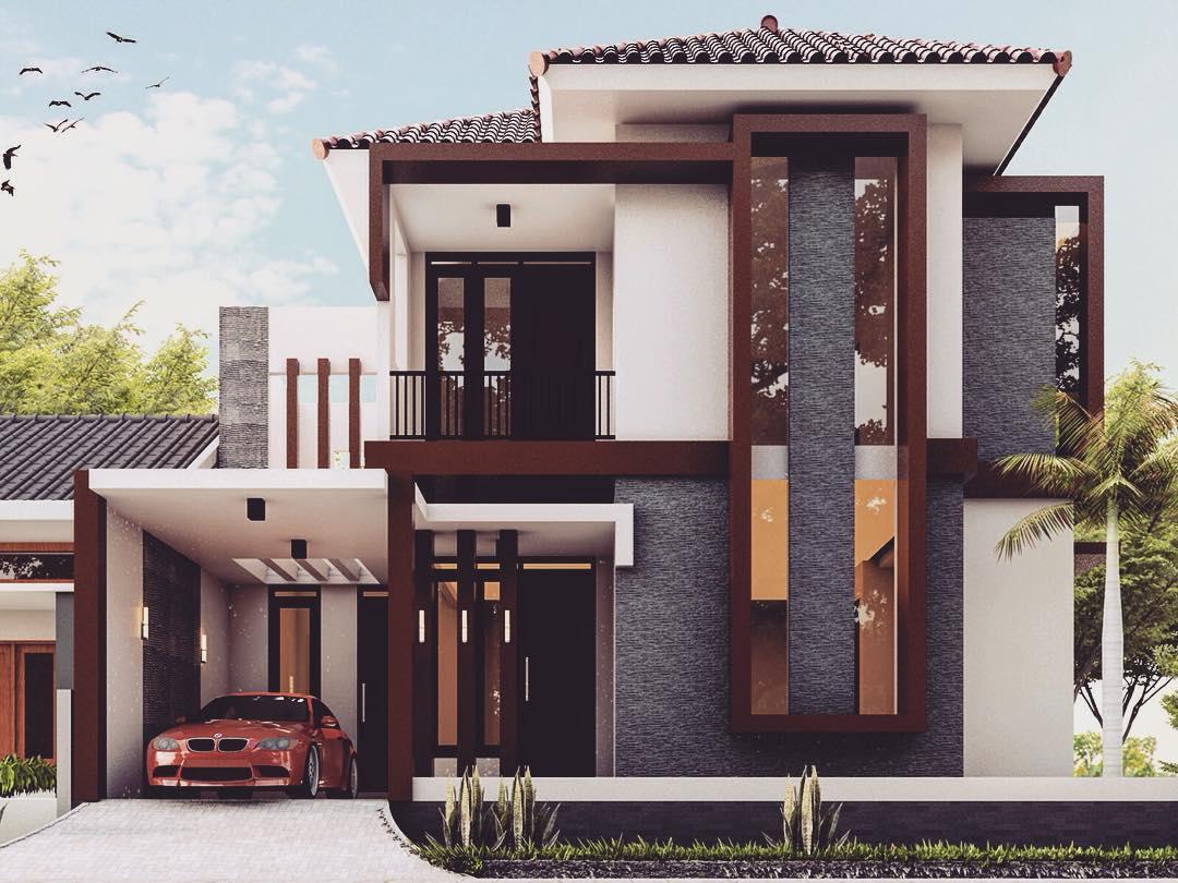 30 Gambar Tampak Depan Rumah Minimalis 1 Dan 2 Lantai 2019 Terbaru