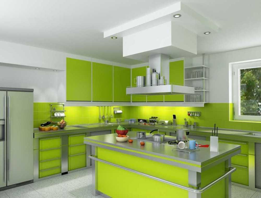 desain dapur hijau