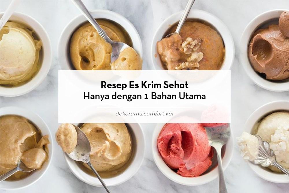 Judul dengan resep es krim berbagai rasa